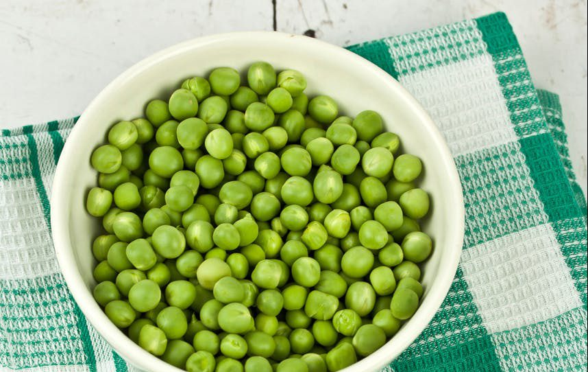 baby food with green peas